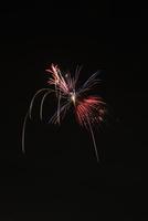 土浦全国花火競技大会でハートにブーケマジックショー