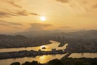 五台山から望む高知市街