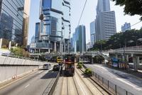 香港トラム 01072026912| 写真素材・ストックフォト・画像・イラスト素材|アマナイメージズ