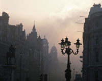 街中に立つ街灯 ロンドン イギリス
