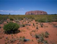 エアーズロックを眺める風景 オーストラリア
