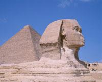 スフィンクスとピラミッド ギザ エジプト 01138011035| 写真素材・ストックフォト・画像・イラスト素材|アマナイメージズ