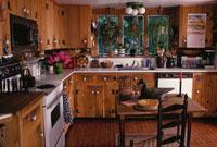 ウッド調のキッチン コネチカット州 アメリカ