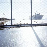 雨上がりの港