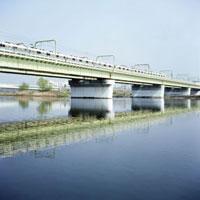 多摩川鉄橋を渡る小田原線
