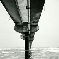 鹿島灘に突き出した波崎観測桟橋