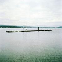 山中湖観光桟橋の風景