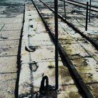 古い造船所の線路