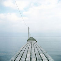 館山湾に突き出した桟橋