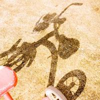 三輪車の影