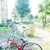 団地の自転車