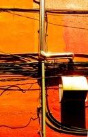 オレンジ色の側壁のライフライン