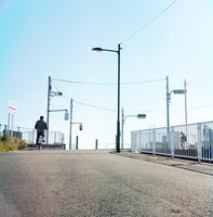 中川堤防上の交差点