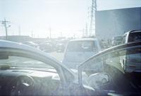 首都高速横羽線、平和島パーキングエリアの早朝