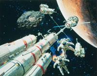 火星と輸送 CG