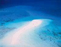 グレートバリアリーフのサンゴ礁 空撮 オーストラリア