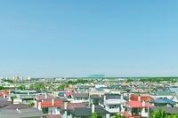 広い住宅地と青空の景観