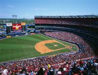 野球観戦 01184090295| 写真素材・ストックフォト・画像・イラスト素材|アマナイメージズ