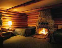 暖炉のある部屋 オレゴン州 アメリカ