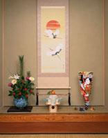 正月の床の間 01209090315| 写真素材・ストックフォト・画像・イラスト素材|アマナイメージズ