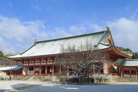 冬の平安神宮大極殿