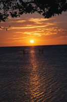 シトロン湾の夕景 ニューカレドニア