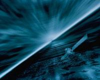 宇宙に漂う人工衛星イメージ