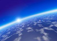 大気に包まれた地球