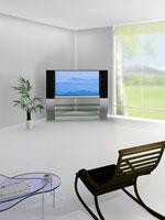 テレビと椅子 01328010609| 写真素材・ストックフォト・画像・イラスト素材|アマナイメージズ