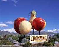 果物の巨大な看板 クロムウェル ニュージーランド