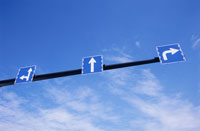矢印の道路標識