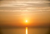 若狭湾と夕日