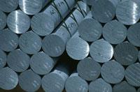 積まれた円柱のアルミニウム