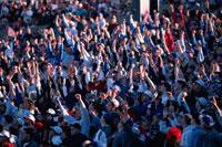 ジャイアントスタジアムのフットボールの観客 アメリカ