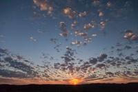 マトボの丘群の朝日