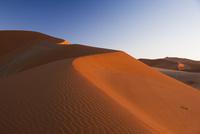 夜明けのナミブ砂漠のソサスブレイの砂丘