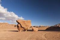 ワディラムの砂漠の奇岩チキンロック