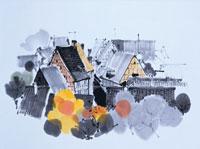 アルザス地方の秋   イラスト 01432010000| 写真素材・ストックフォト・画像・イラスト素材|アマナイメージズ