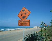 地震装置の看板   サンタバーバラ アメリカ