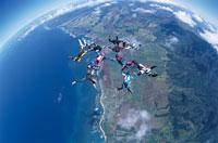スカイダイビング 01493000078| 写真素材・ストックフォト・画像・イラスト素材|アマナイメージズ