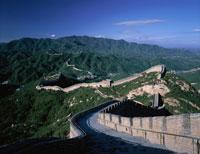 延々と続く八達嶺の長城   北京 中国