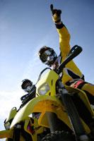 Two men on Motocross Motorbikes
