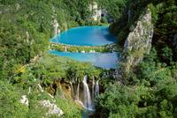 View at the waterfalls at Plitvica Lakes, Croatian Adriatic Sea, Dalmatia, Croatia, Europe