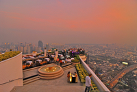 Restaurant Sirocco on top of State Tower with view over Bangkok, Lebua Hotel, Bangkok, Thailand, Asia