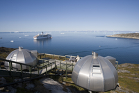 Hotel Arctic Igloo Accomodation and cruise ship MS Deutschland, Ilulissat (Jakobshavn), Disko Bay, Kitaa, Greenland