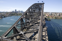 Sydney Harbour Bridge in Sdyney harbour, New South Wales, Australia