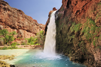 Waterfall Havasu Fall, Havasu, Supai, Grand Canyon, Grand Canyon National Park, UNESCO World Heritage Site Grand Canyon, Arizona 01510109546| 写真素材・ストックフォト・画像・イラスト素材|アマナイメージズ