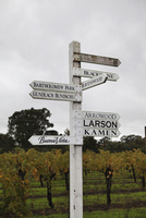 USA, California, Sonoma, signs point the way to the many vineyards in the Sonoma countryside 01510109742| 写真素材・ストックフォト・画像・イラスト素材|アマナイメージズ
