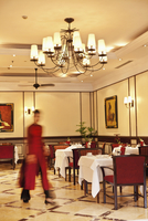 VIETNAM, Hanoi, Sofitel Metropole Hotel, one of the dining rooms at the hotel