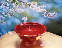 桜と盃 01520010000| 写真素材・ストックフォト・画像・イラスト素材|アマナイメージズ